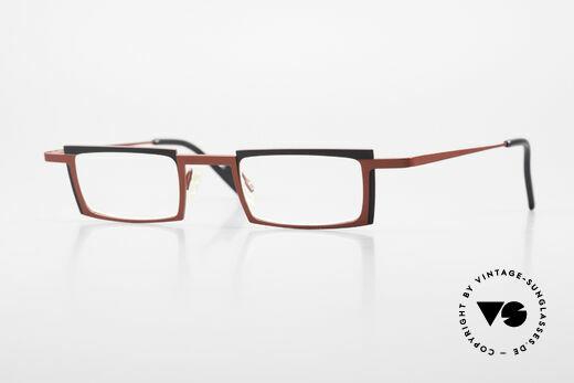 Theo Belgium Maigret Square Titanium Glasses Unisex Details