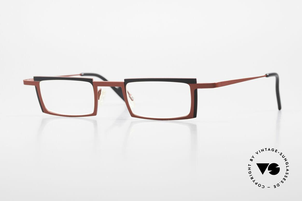 Theo Belgium Maigret Square Titanium Glasses Unisex, WIDE; square reading eyeglasses by THEO Belgium, Made for Men and Women