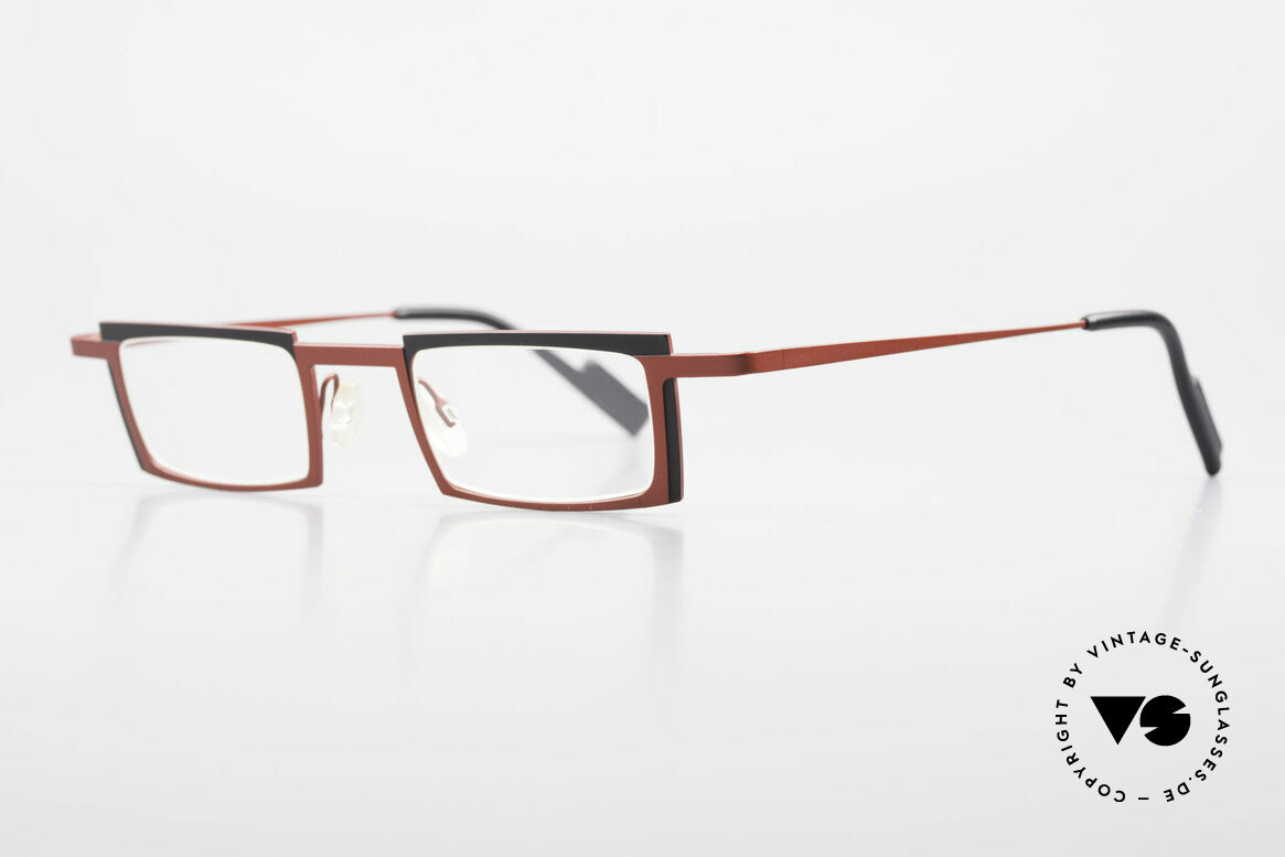 Theo Belgium Maigret Square Titanium Glasses Unisex, lightweight & very comfortable, pure TITANIUM frame, Made for Men and Women