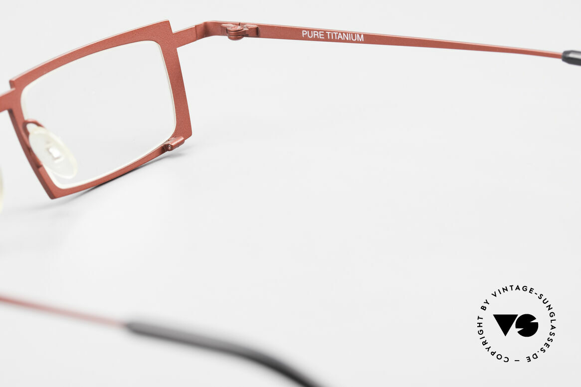 Theo Belgium Maigret Square Titanium Glasses Unisex, Size: extra large, Made for Men and Women