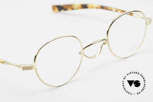 Lunor Swing A 32 Panto Swing Bridge Gold Plated, orig. DEMO lenses can be replaced with prescriptions, Made for Men and Women