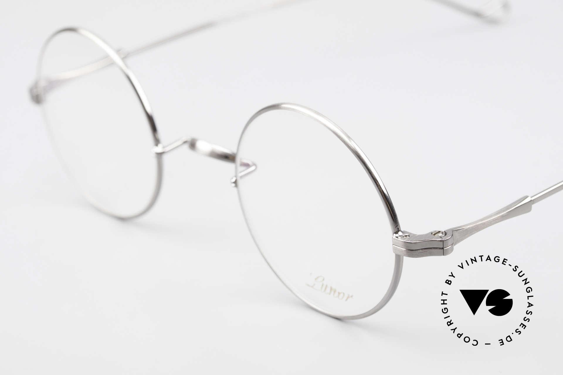 Lunor II 23 Round Frame Antique Silver, noble, classy, timeless = a genuine LUNOR ORIGINAL, Made for Men and Women