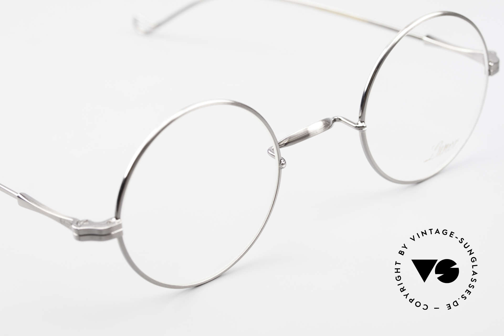 Lunor II 23 Round Frame Antique Silver, a timeless, unworn RARITY for all lovers of quality, Made for Men and Women