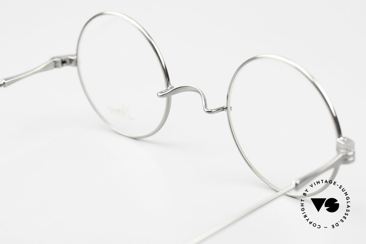 Lunor II 23 Round Frame Antique Silver, Size: medium, Made for Men and Women