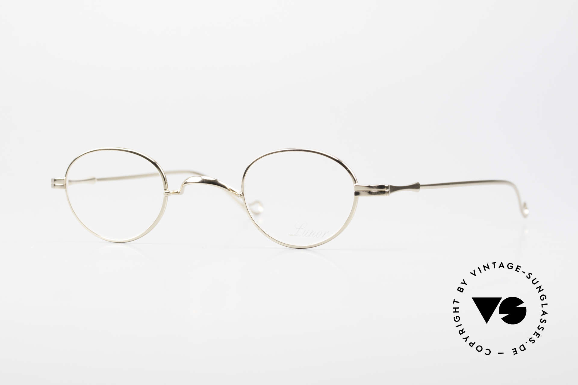 Lunor II 03 XS Unisex Frame Gold Plated, extra small vintage eyeglasses of the Lunor II Series, Made for Men and Women