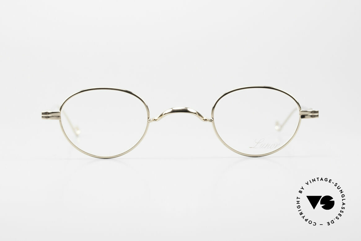 Lunor II 03 XS Unisex Frame Gold Plated, GOLD-plated and with anatomically adaptable temples, Made for Men and Women
