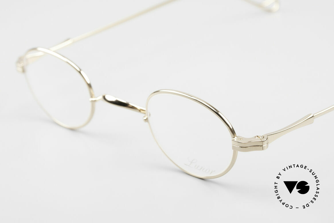 Lunor II 03 XS Unisex Frame Gold Plated, traditional German brand; quality handmade in Germany, Made for Men and Women