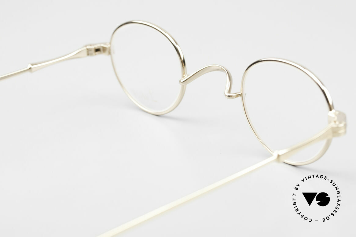 Lunor II 03 XS Unisex Frame Gold Plated, Size: extra small, Made for Men and Women