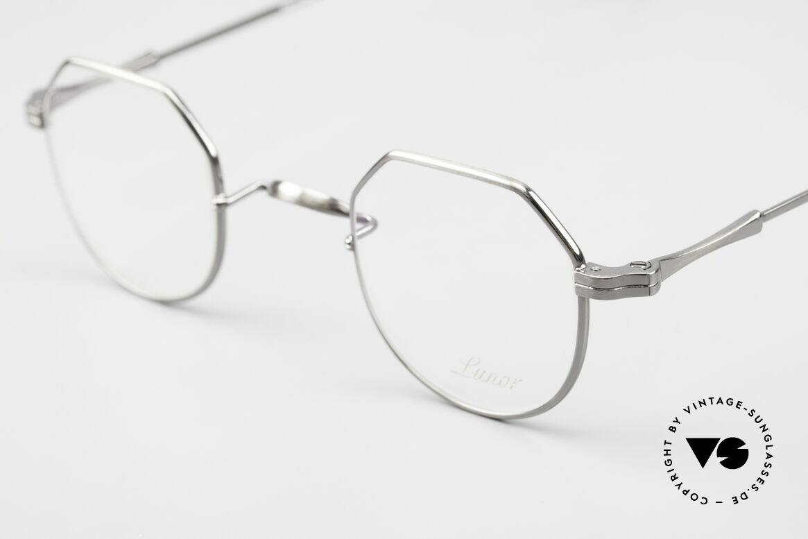 Lunor II 18 Square Panto Eyeglasses Metal, noble, classy, timeless = a genuine LUNOR ORIGINAL!, Made for Men and Women