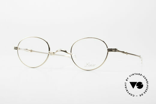 Lunor I 20 Telescopic Sliding Temples Gold Plated Details