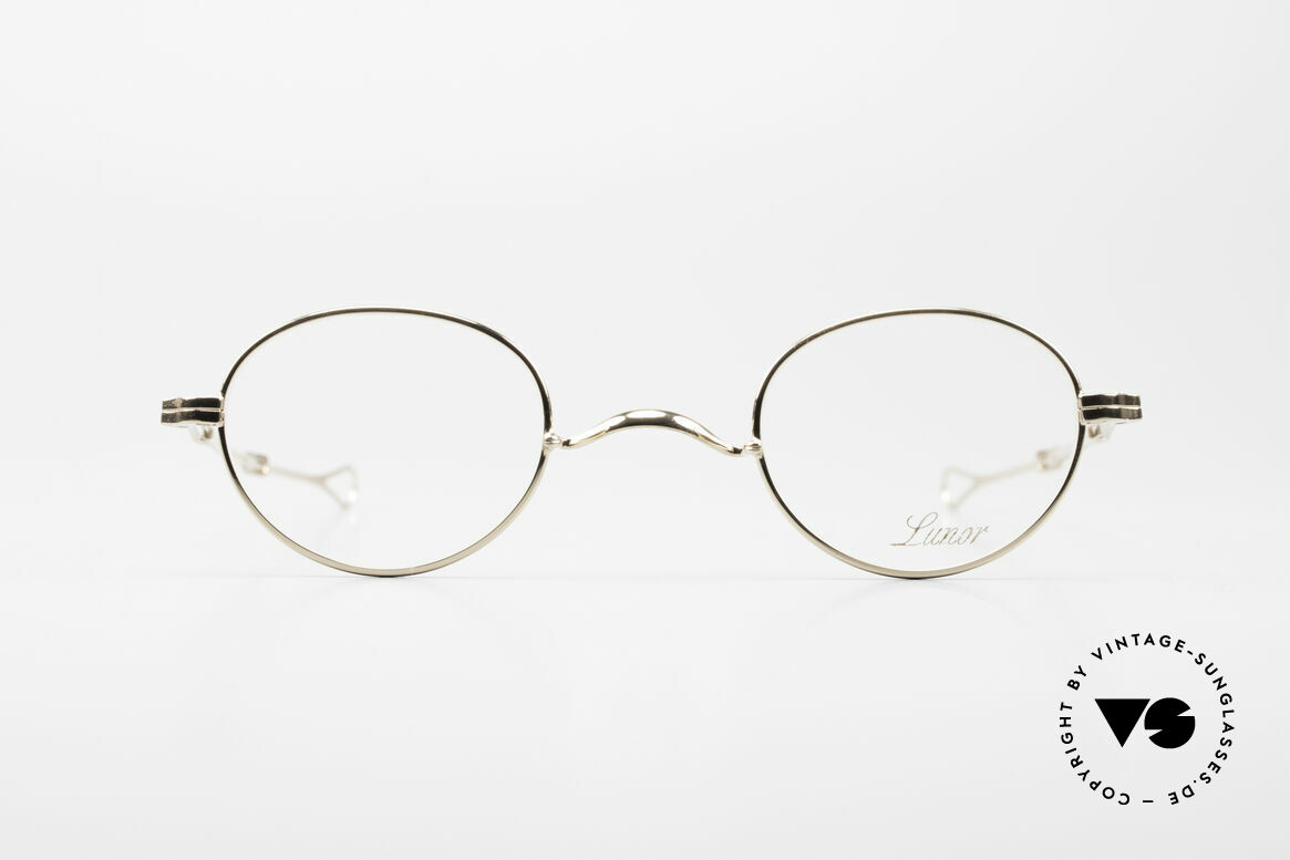 Lunor I 20 Telescopic Sliding Temples Gold Plated, the (arms) temples are extendable like a telescope, Made for Men and Women