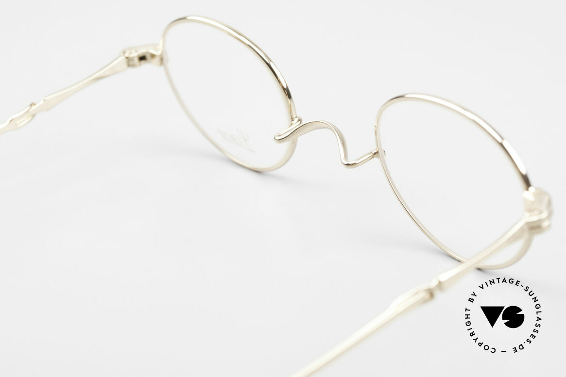 Lunor I 20 Telescopic Sliding Temples Gold Plated, Size: extra small, Made for Men and Women