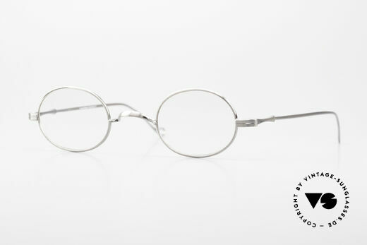 Lunor II 10 Oval Glasses Antique Silver Details