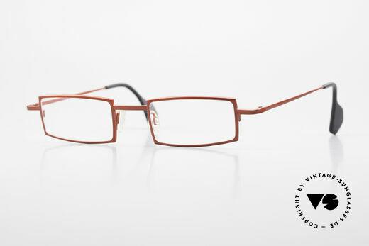 Theo Belgium Largest Square Striking Metal Glasses Details