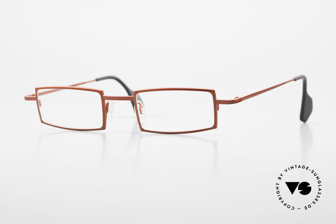 Theo Belgium Largest Square Striking Metal Glasses, square reading eyeglasses by vintage THEO Belgium, Made for Women