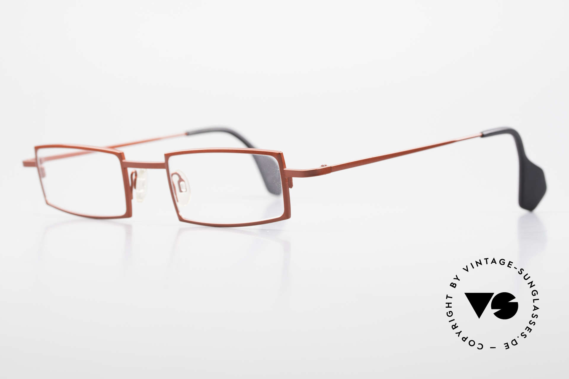 """Theo Belgium Largest Square Striking Metal Glasses, model name """"Largest"""": rather a ladies model in L size, Made for Women"""