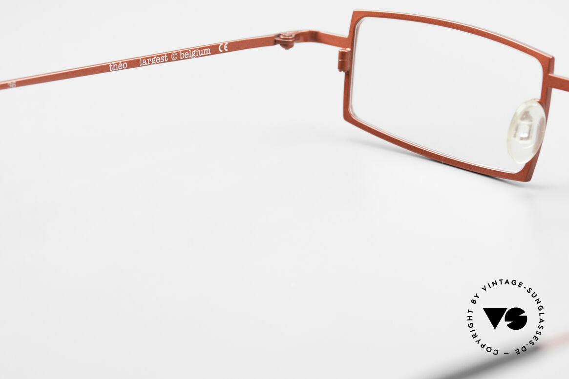 Theo Belgium Largest Square Striking Metal Glasses, NO RETRO EYEWEAR, but a 20 years old Theo original, Made for Women
