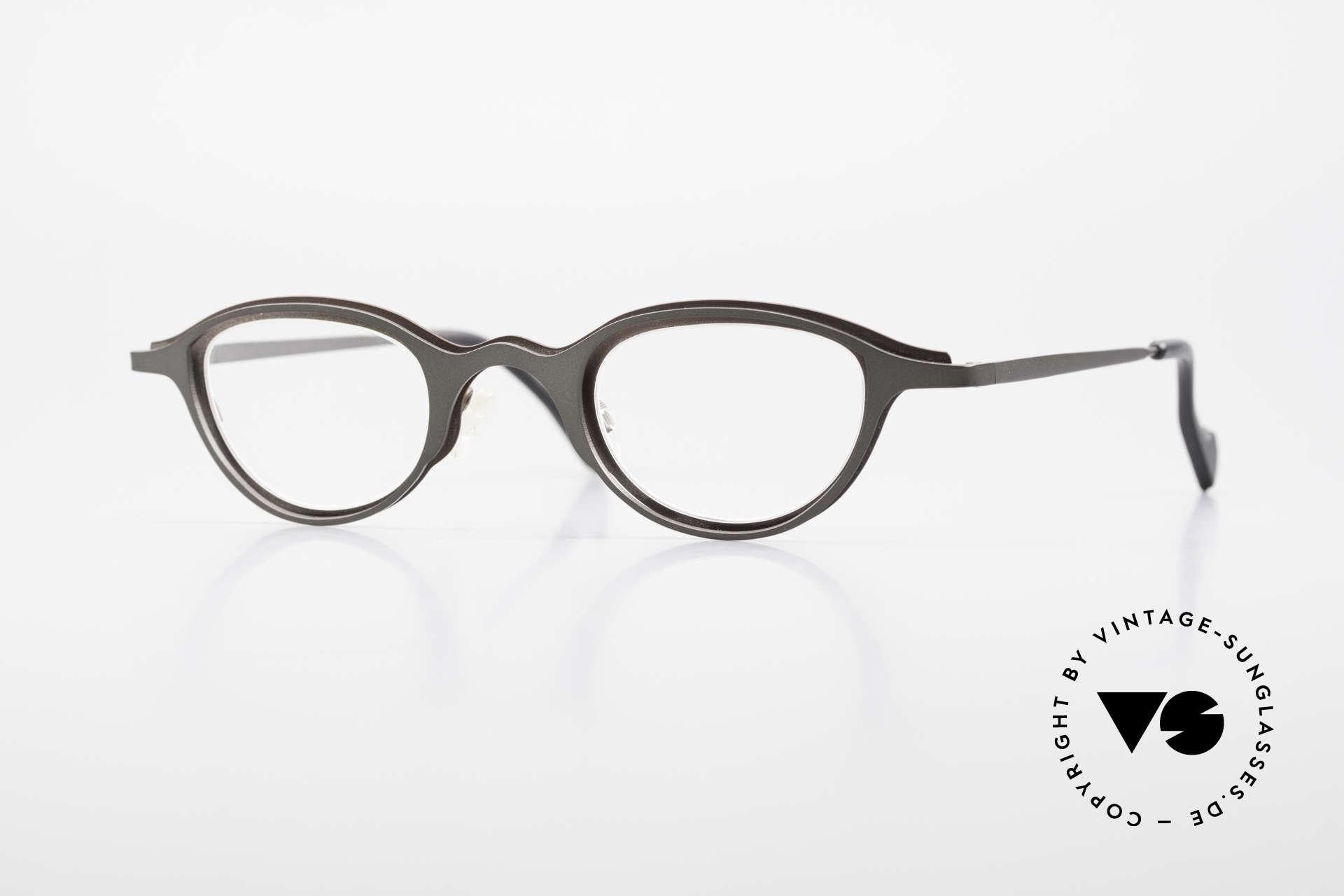 Theo Belgium Uno Enchanting Ladies Eyeglasses, very interesting 90's Theo Belgium ladies eyeglasses, Made for Women