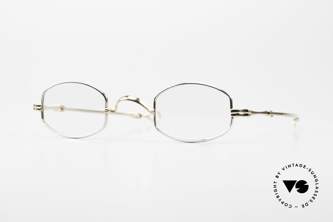 Lunor I 02 Telescopic Telescopic Sliding Temples, very small Lunor eyeglasses with telescopic slide temple, Made for Men and Women