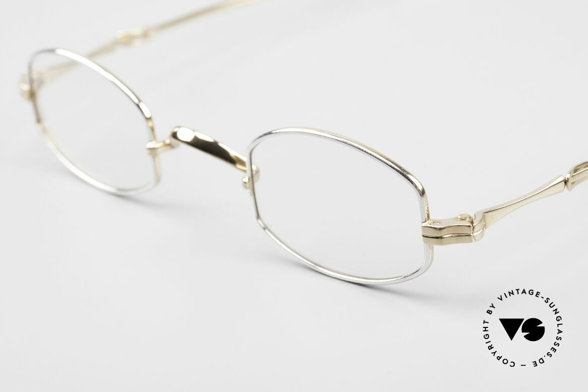 Lunor I 02 Telescopic Telescopic Sliding Temples, an approx. 20 years old UNWORN pair for lovers of quality, Made for Men and Women