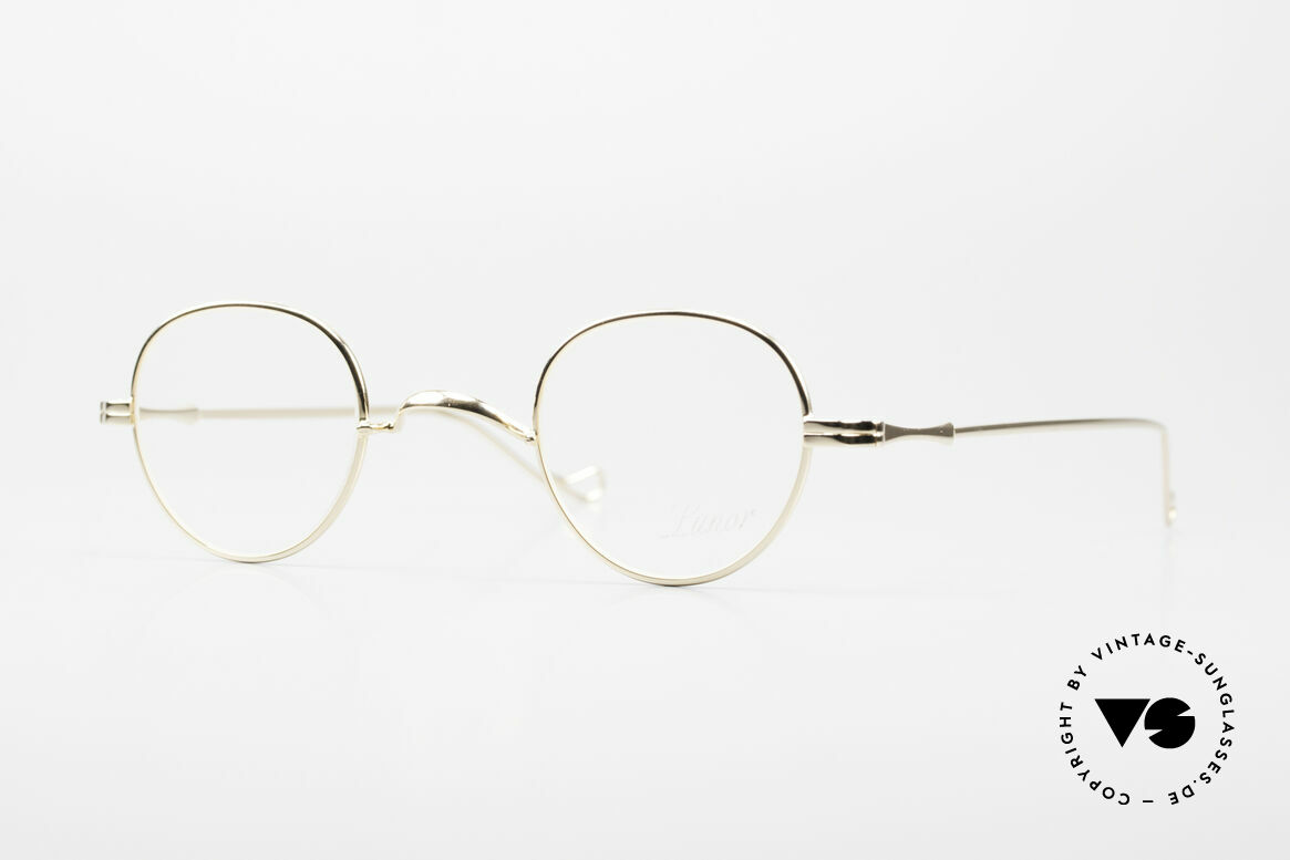 Lunor II 15 Old Panto Frame Gold Plated, old vintage Panto design glasses of the Lunor II Series, Made for Men and Women