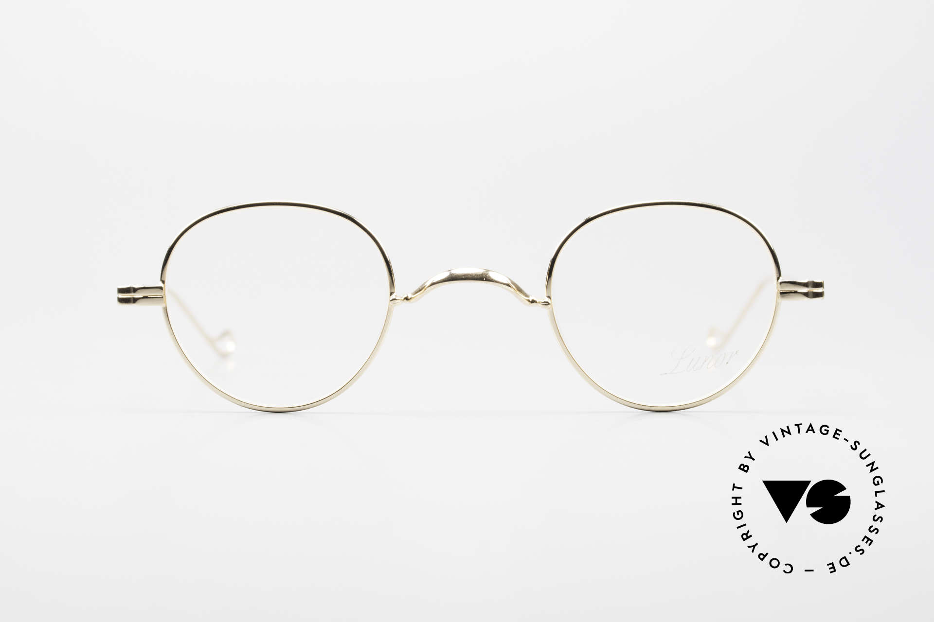 Lunor II 15 Old Panto Frame Gold Plated, full rimmed, GOLD-PLATED: tangible top-notch quality, Made for Men and Women