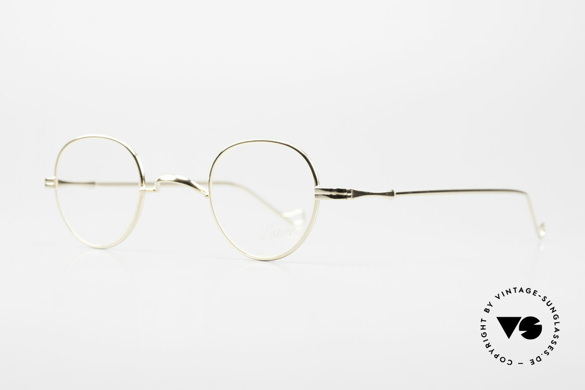 Lunor II 15 Old Panto Frame Gold Plated, in size 39/26; can be glazed with strong prescriptions, Made for Men and Women