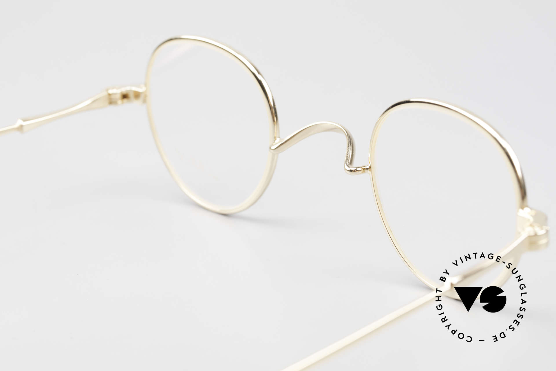 Lunor II 15 Old Panto Frame Gold Plated, Size: small, Made for Men and Women