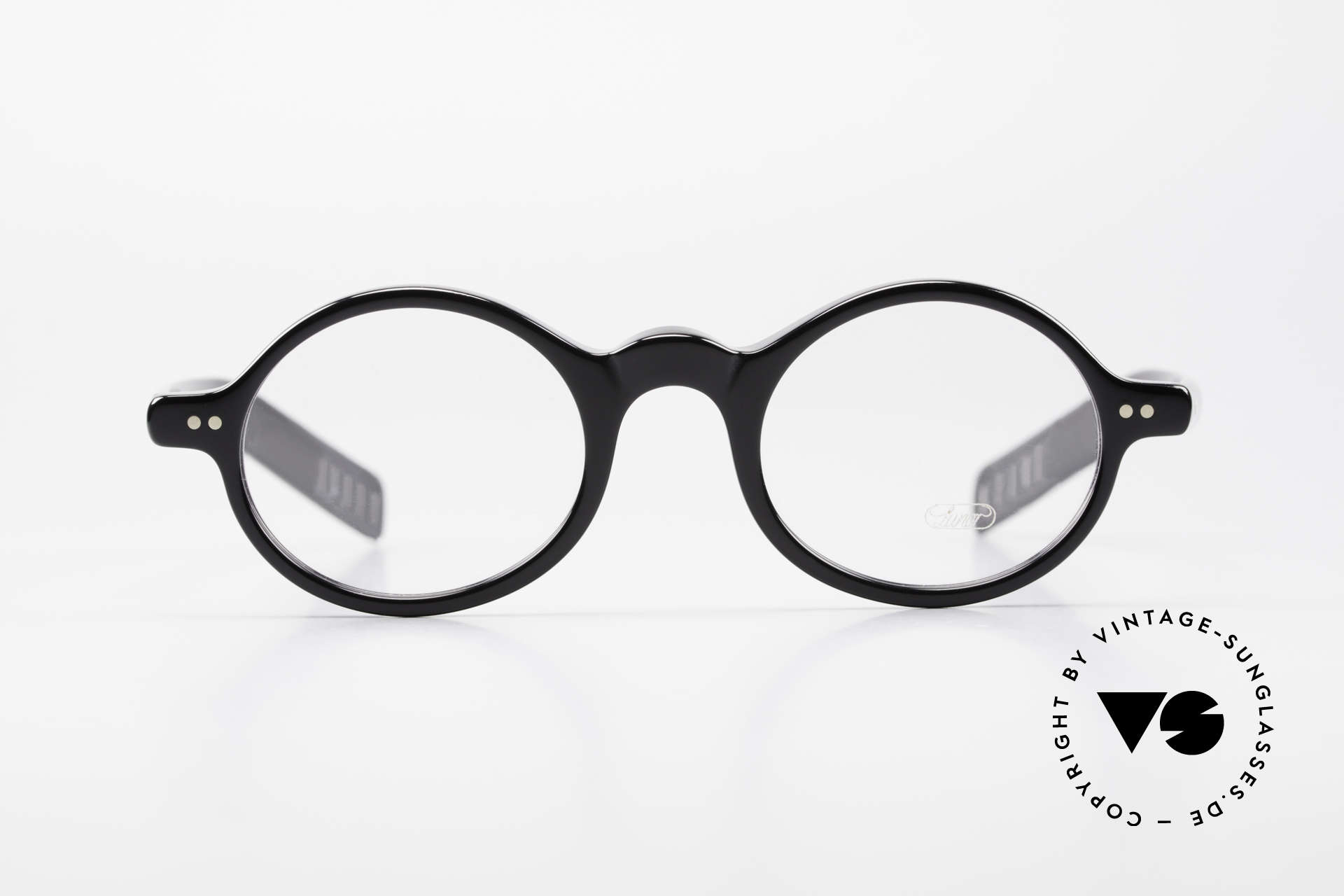 Lunor A52 Oval Eyeglasses Black Acetate, riveted hinges; cut precise to the tenth of a millimeter, Made for Men and Women
