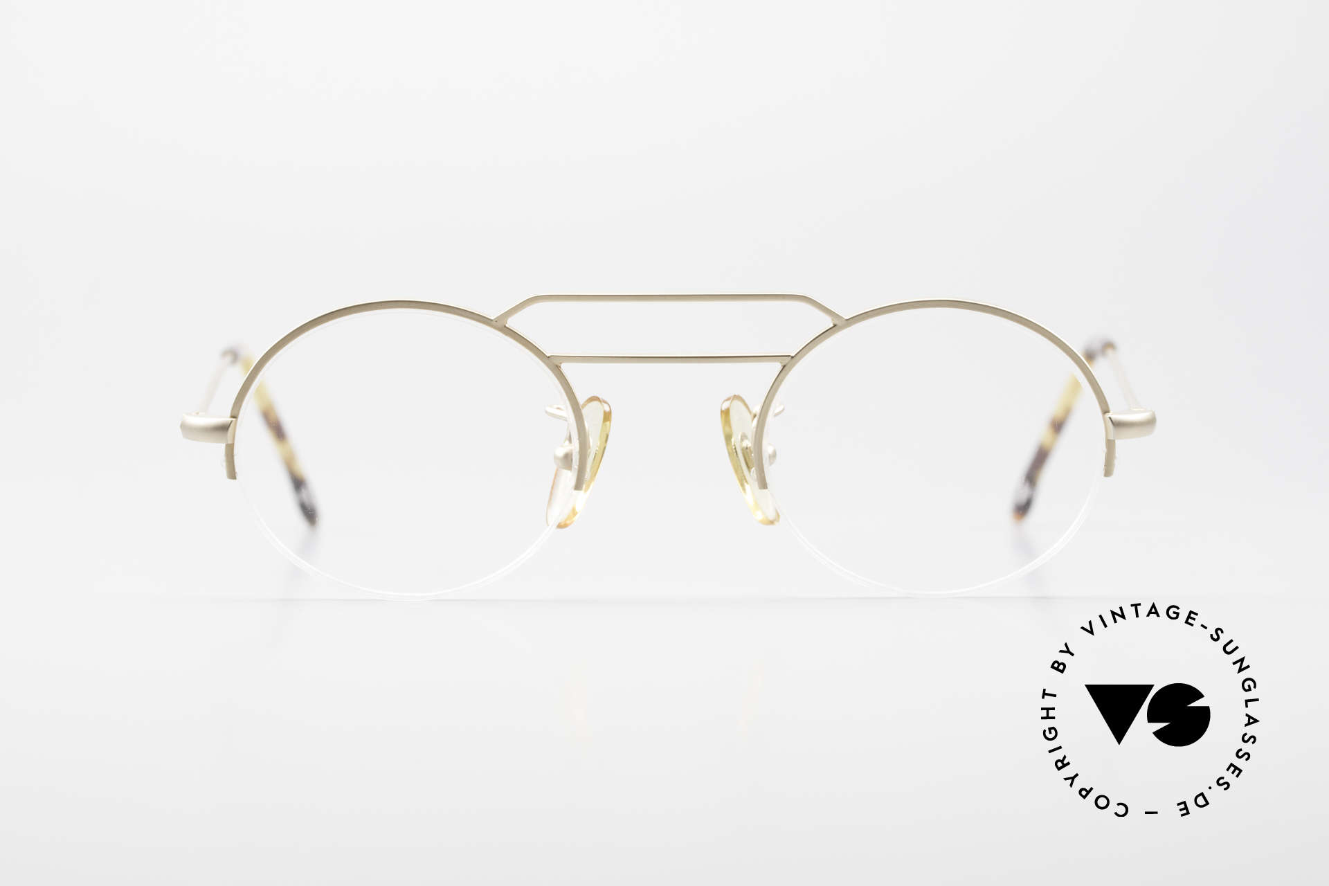 W Proksch's M5/13 90's Semi Rimless Dulled Gold, back then, produced by Wolfgang Proksch himself, Made for Men and Women