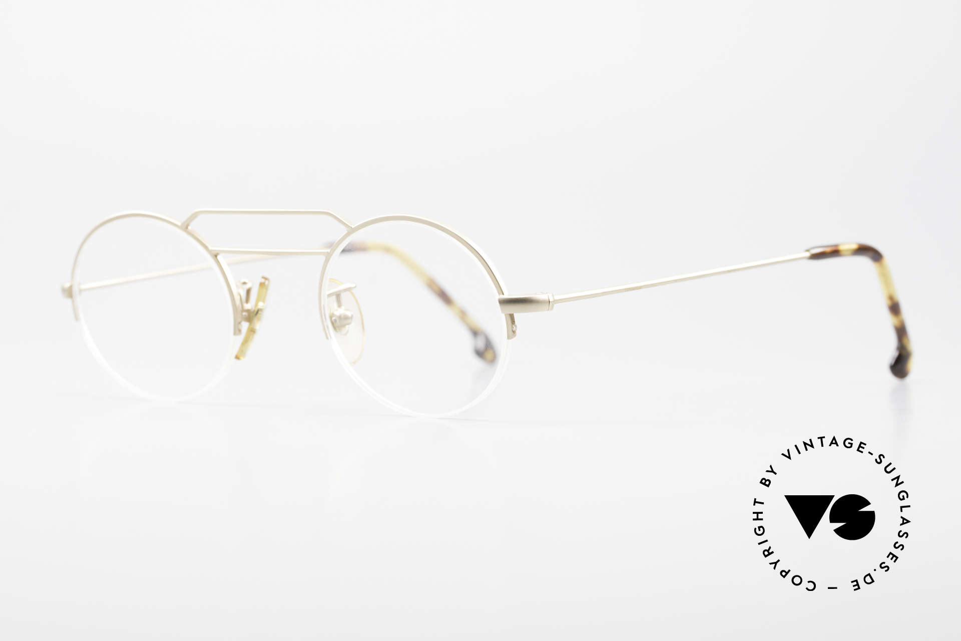 W Proksch's M5/13 90's Semi Rimless Dulled Gold, since 1998 the company Kaneko produces licensed, Made for Men and Women