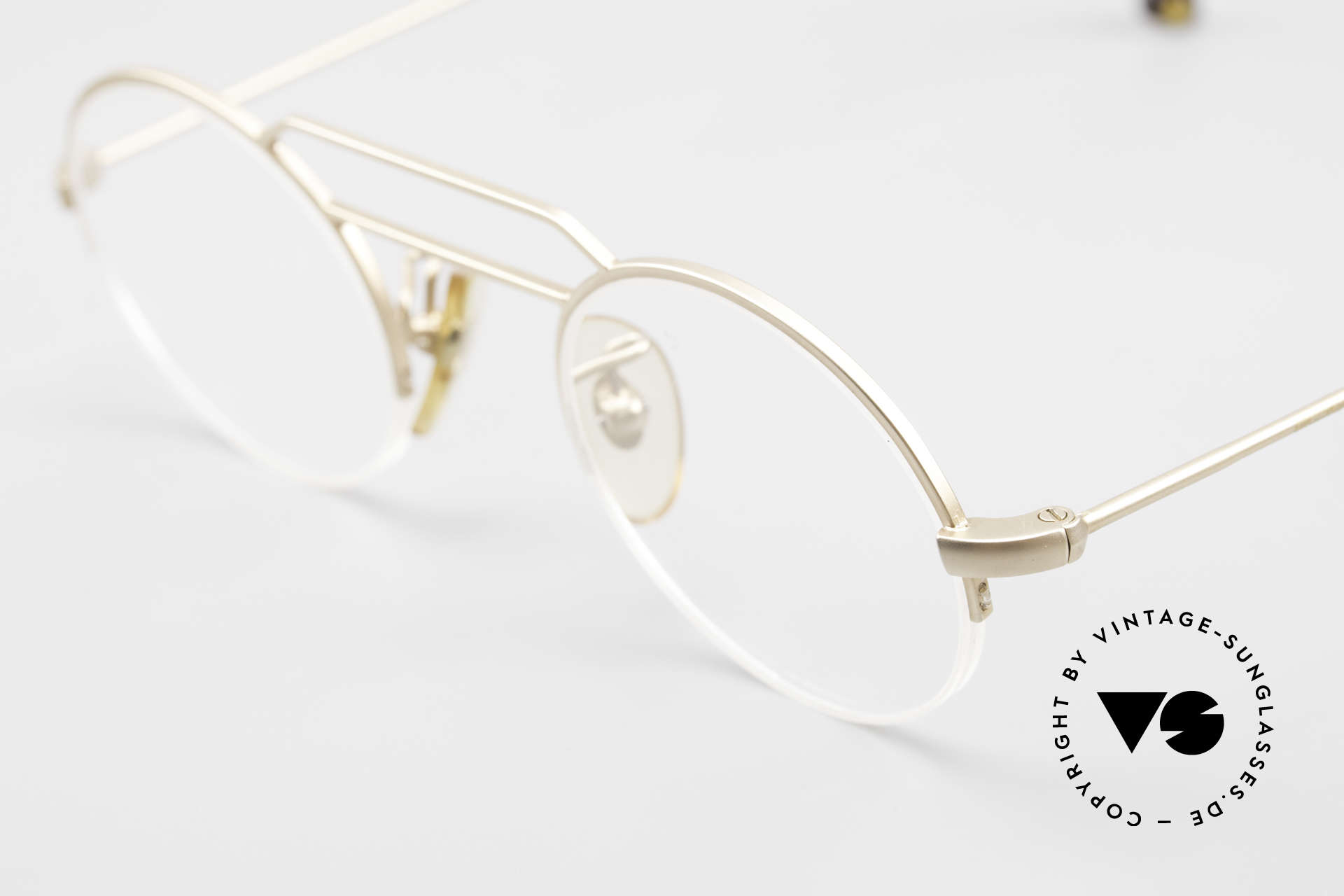 """W Proksch's M5/13 90's Semi Rimless Dulled Gold, this old WP ORIGINAL incarnates """"classy elegance"""", Made for Men and Women"""
