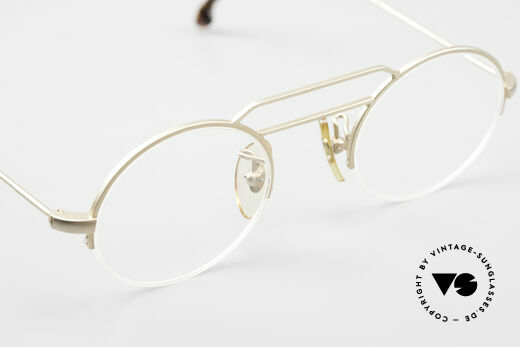 W Proksch's M5/13 90's Semi Rimless Dulled Gold, NO RETRO; but a 25 years old rarity in SMALL size, Made for Men and Women