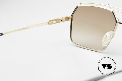 Cazal 734 1980's West Germany Shades, brown-gradient sun lenses (for 100% UV protection), Made for Men