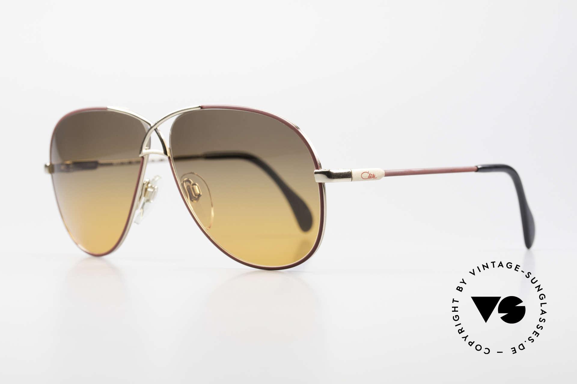 Cazal 728 80's Designer Aviator Shades, lightweight curved frame; in medium size 59-11, Made for Men and Women