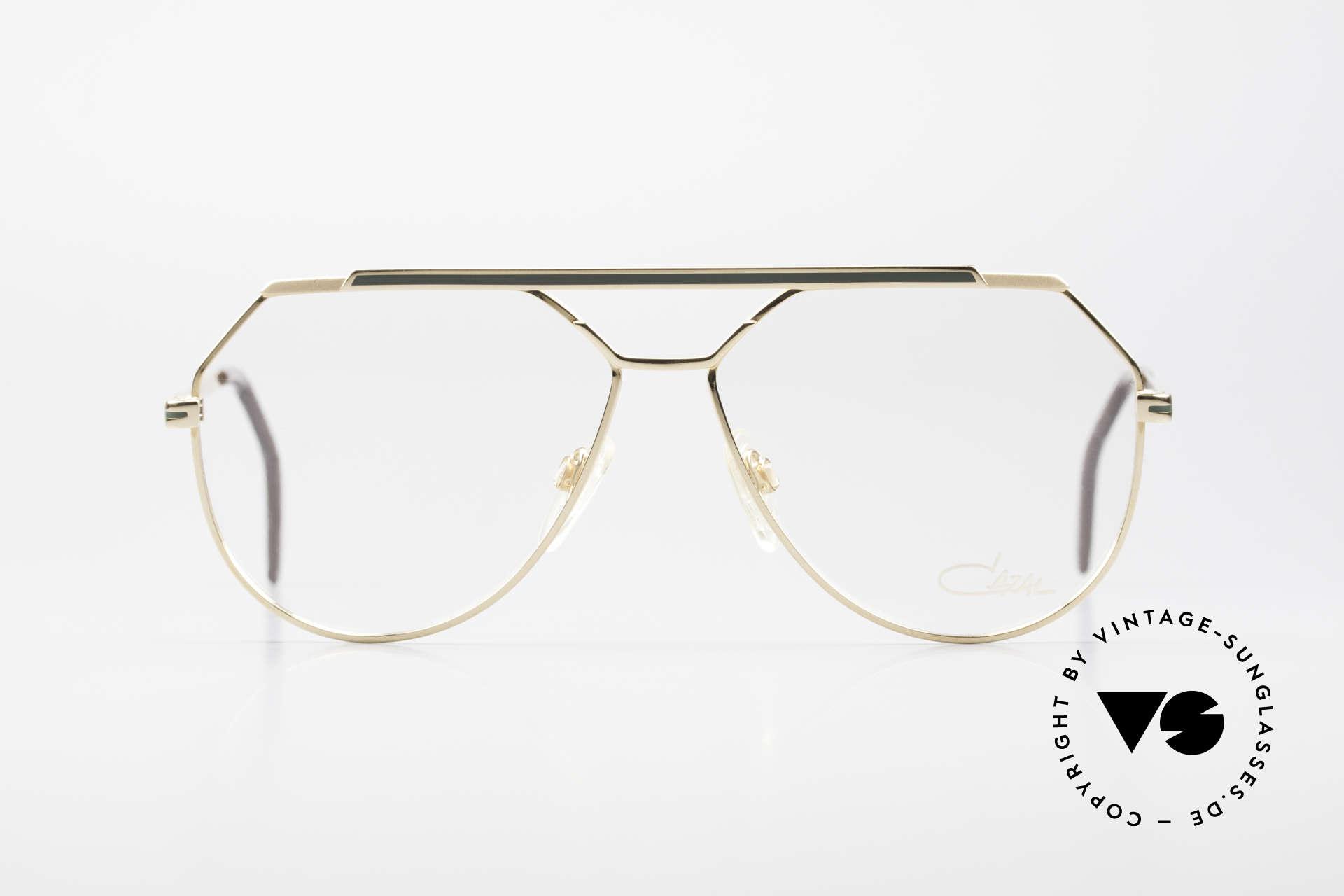 "Cazal 733 Old Cazal Aviator Eyeglasses, delicate double bridge & ""aviator"" design (truly 80's), Made for Men"