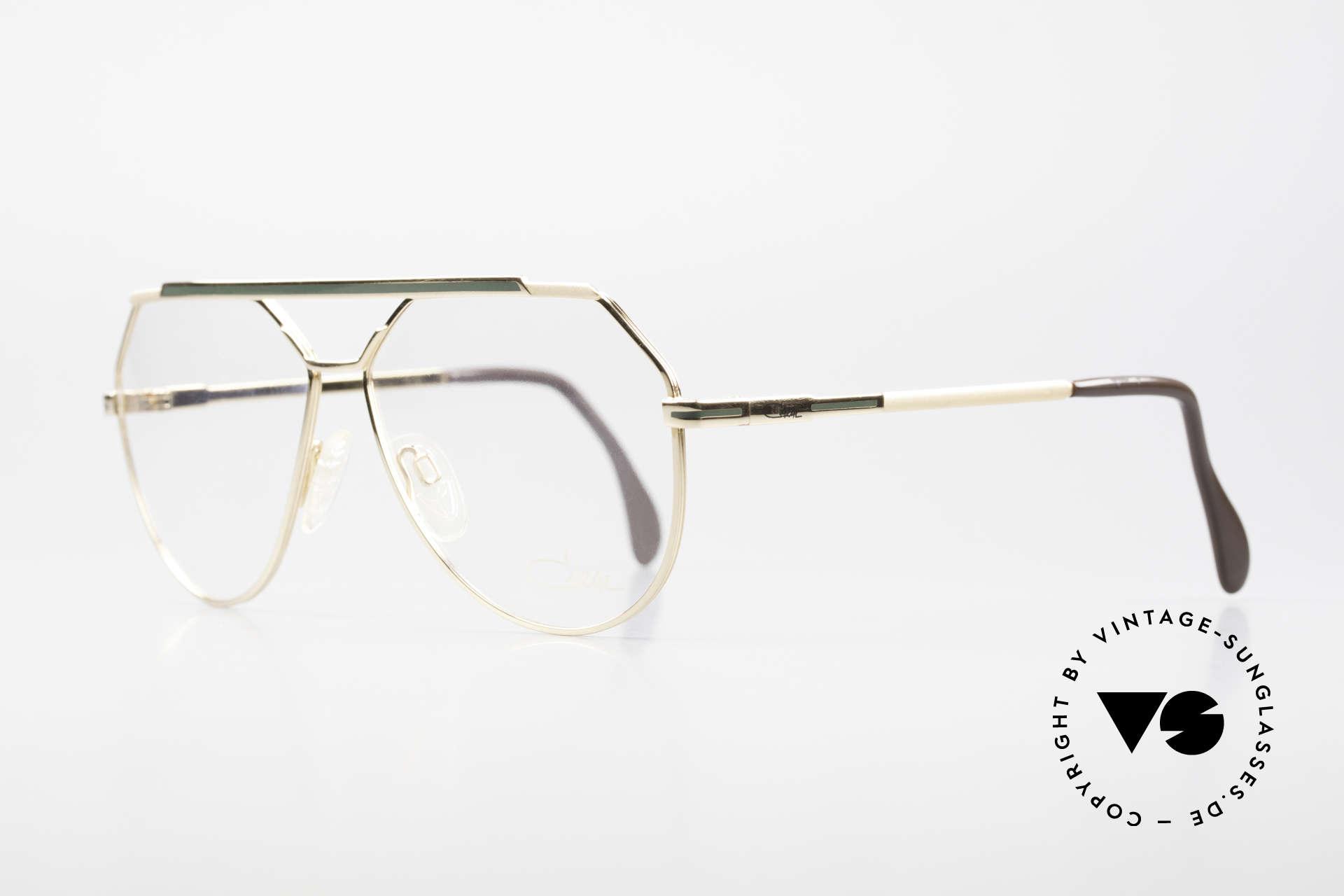 Cazal 733 Old Cazal Aviator Eyeglasses, finest craftsmanship (gold-plated); large size 60-13, Made for Men