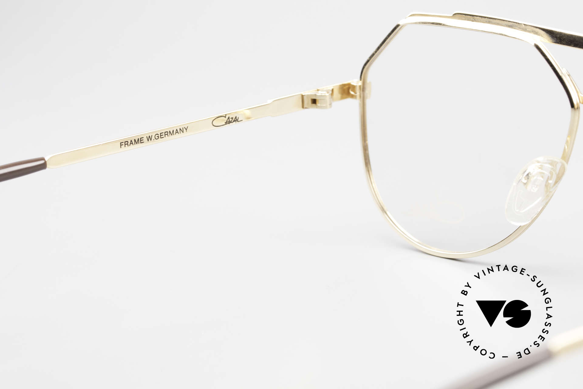Cazal 733 Old Cazal Aviator Eyeglasses, DEMO lenses should be replaced with prescriptions, Made for Men