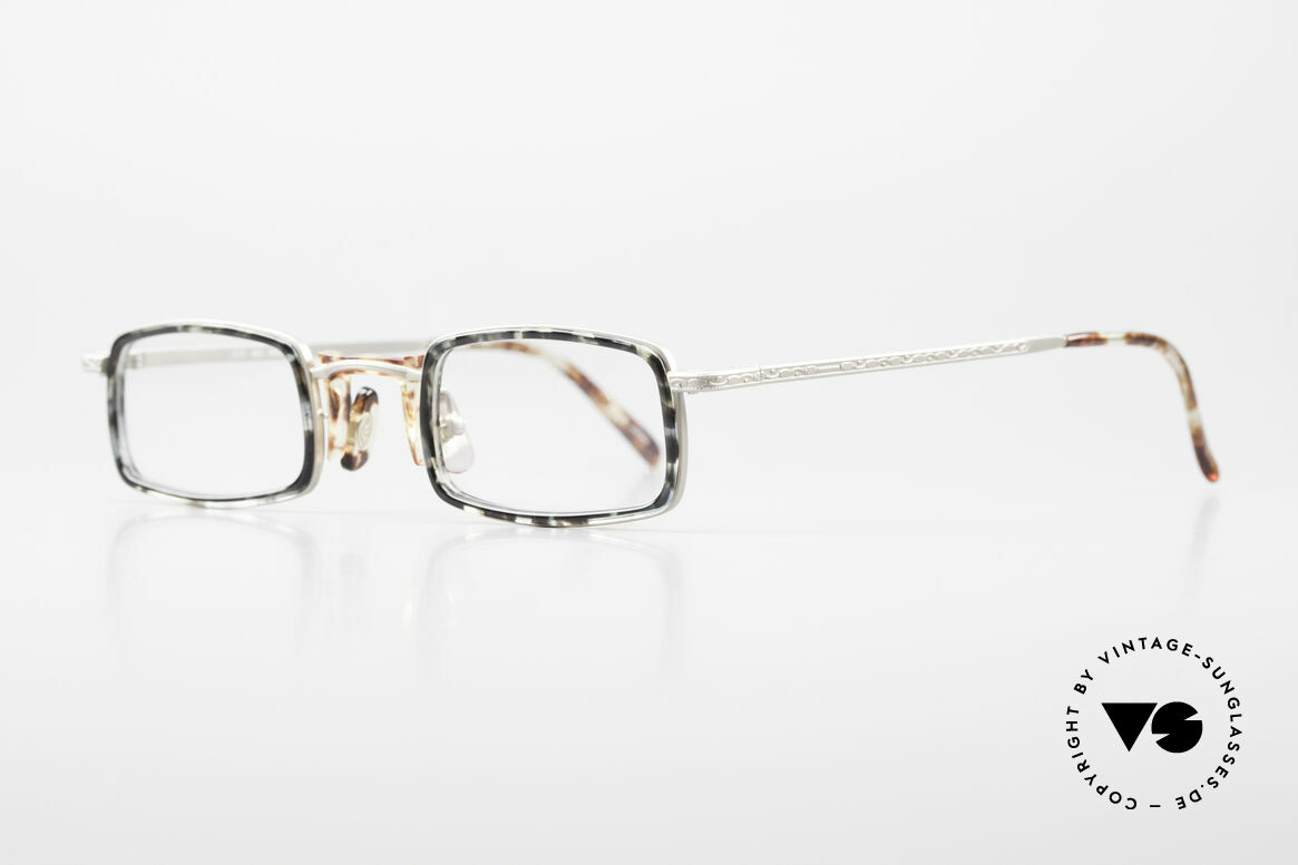 Freudenhaus Jedi Square 90's Designer Frame, great combination of materials (plastic and metal), Made for Men and Women