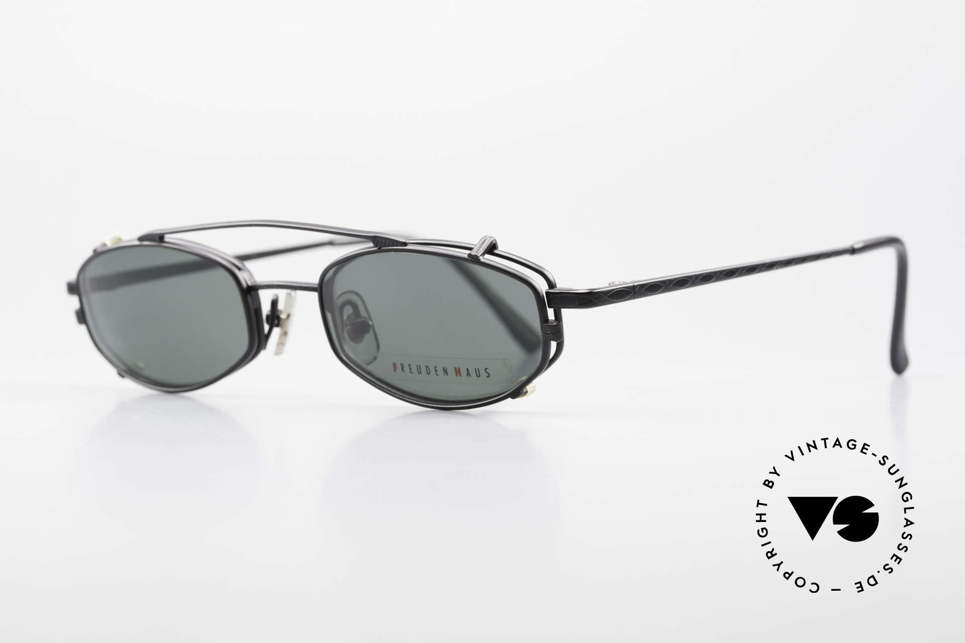 Freudenhaus Ita Titanium Frame With Sun Clip, costly frame, top notch craftsmanship (from Japan), Made for Men and Women
