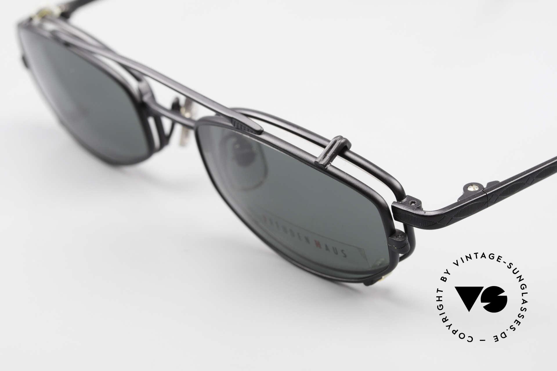 Freudenhaus Ita Titanium Frame With Sun Clip, timeless and sophisticated design; 100% Titanium, Made for Men and Women