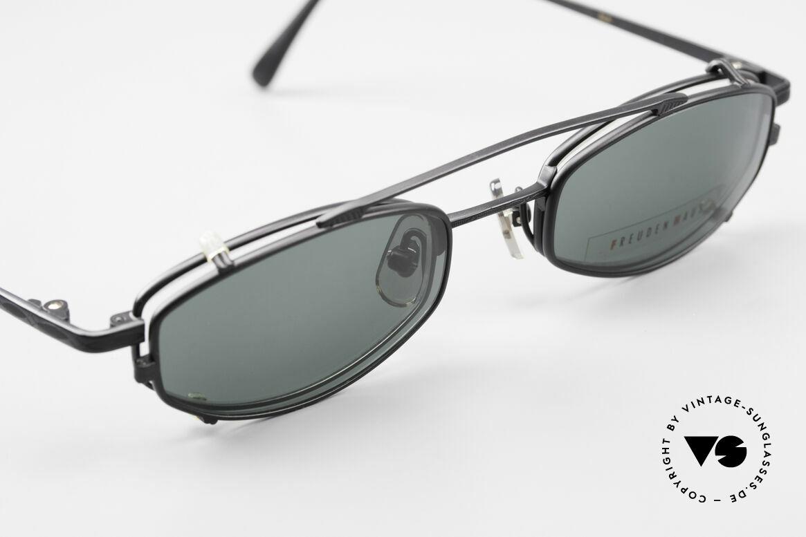 Freudenhaus Ita Titanium Frame With Sun Clip, unworn (like all our rare vintage designer eyeglasses), Made for Men and Women