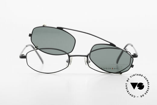 Freudenhaus Ita Titanium Frame With Sun Clip, NO RETRO fashion, but an old Original from the 90's, Made for Men and Women