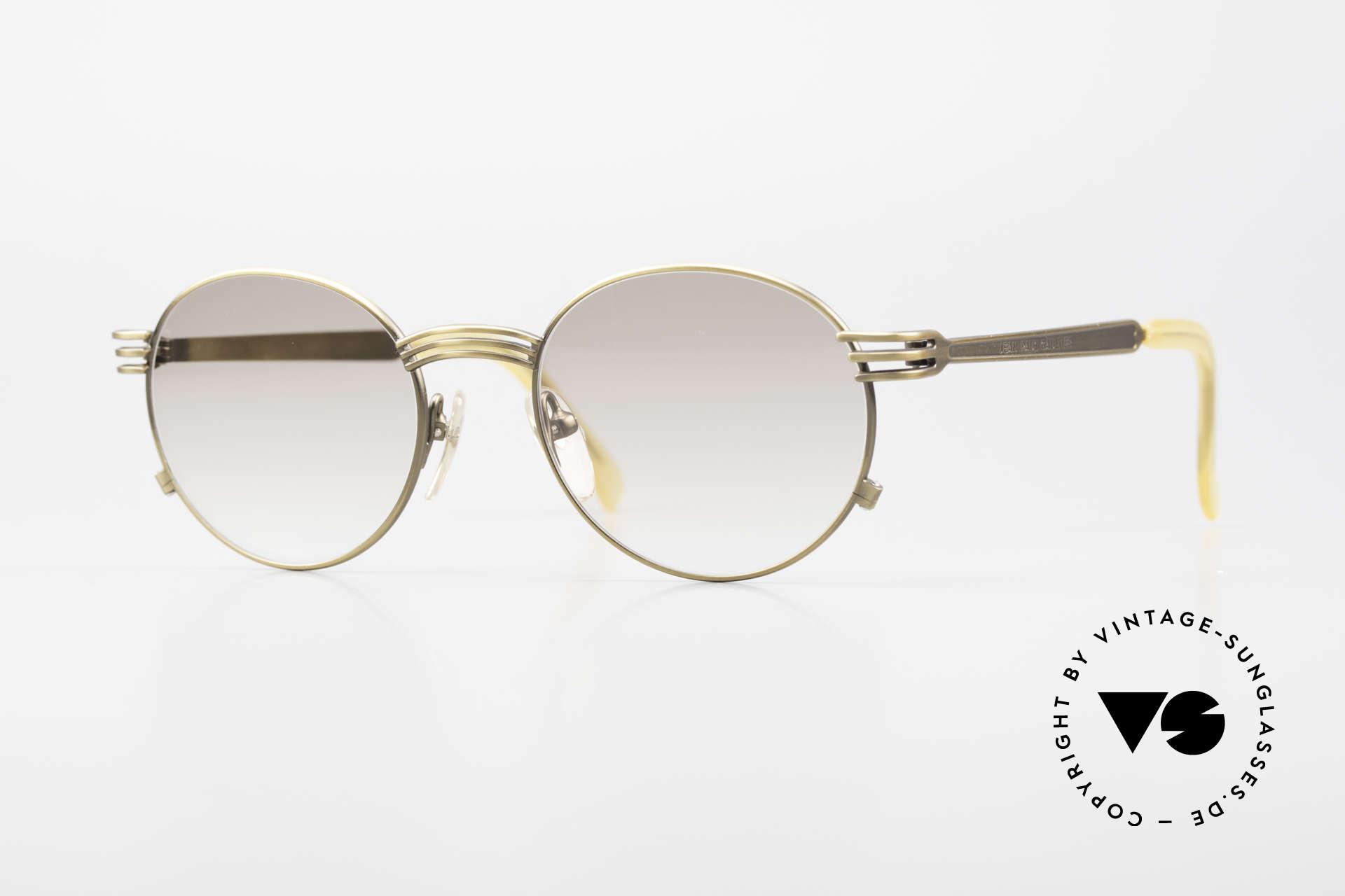 Jean Paul Gaultier 55-3174 Designer Vintage Glasses 90's, valuable & creative Jean Paul Gaultier designer glasses, Made for Men and Women