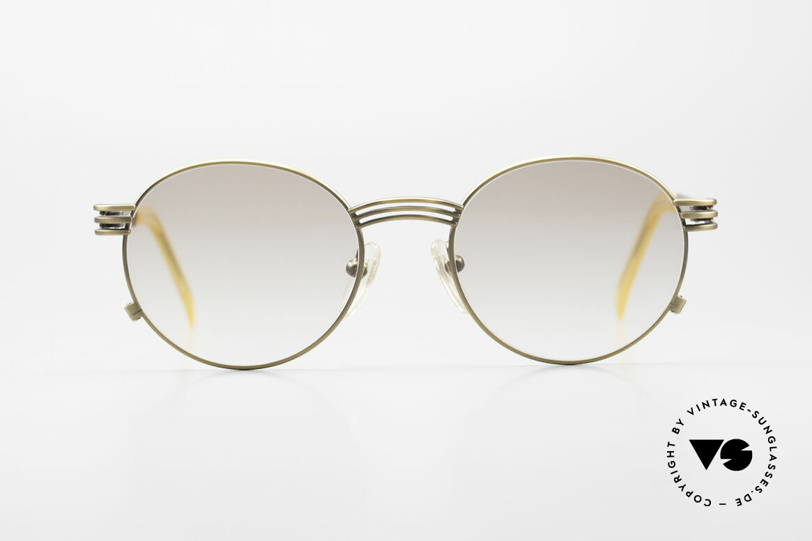 Jean Paul Gaultier 55-3174 Designer Vintage Glasses 90's, the temples are shaped like a fork (typically unique JPG), Made for Men and Women