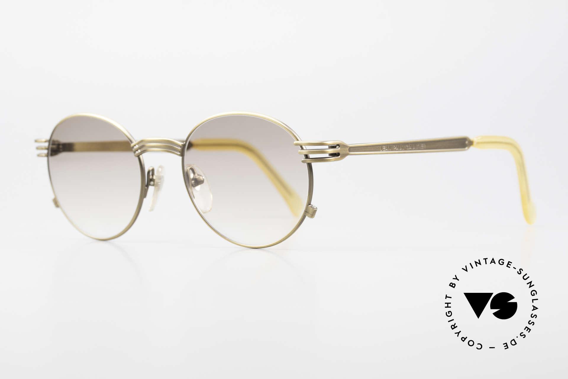 Jean Paul Gaultier 55-3174 Designer Vintage Glasses 90's, tangible top-notch craftsmanship; frame made in Japan, Made for Men and Women