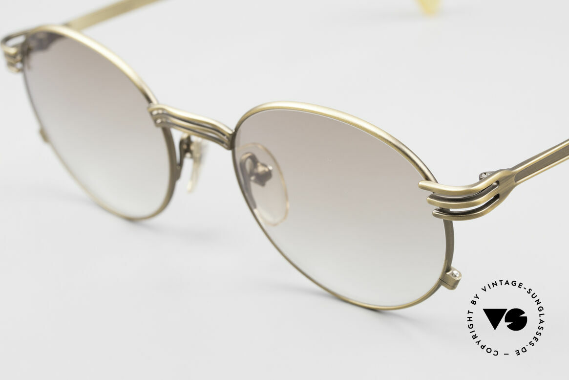 """Jean Paul Gaultier 55-3174 Designer Vintage Glasses 90's, """"antique gold"""" or """"burnt gold"""" frame finish; size 50-19, Made for Men and Women"""