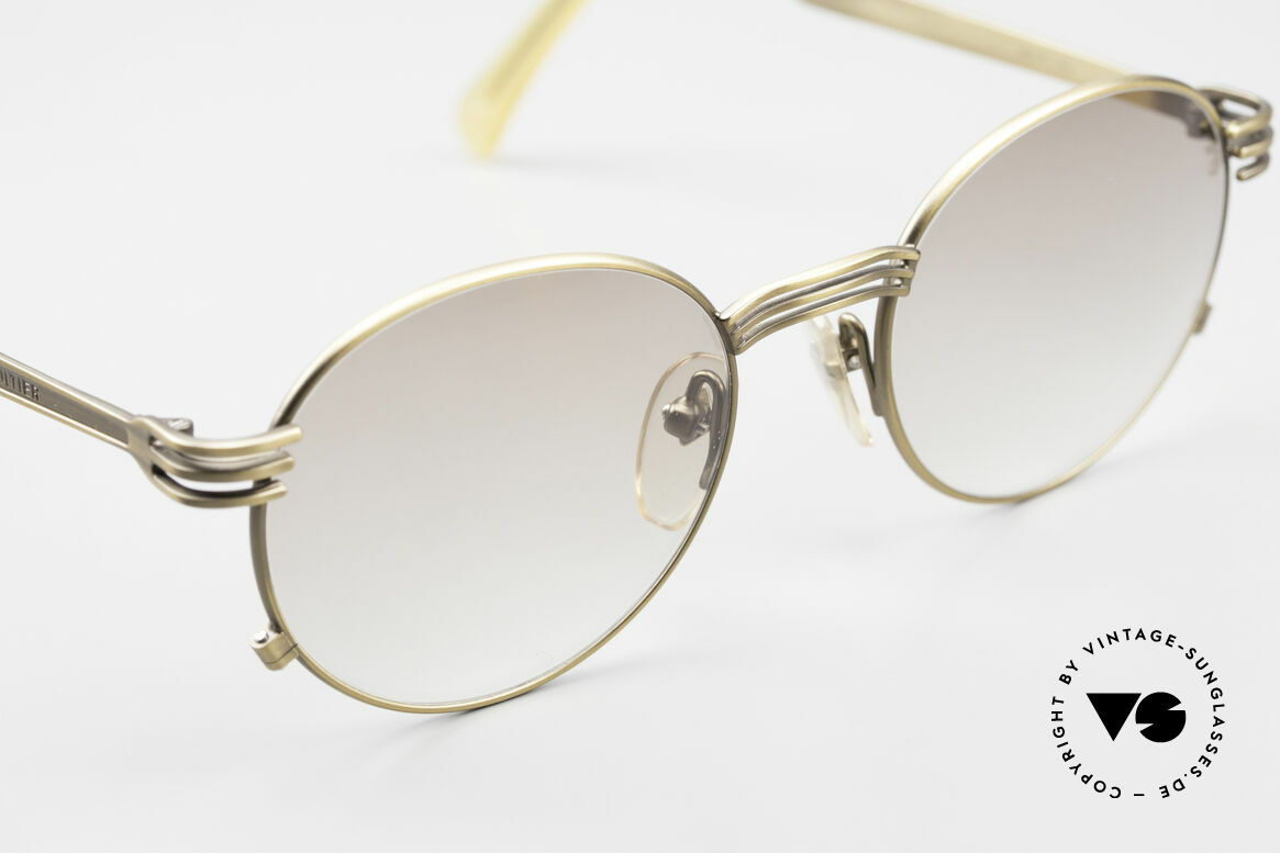 Jean Paul Gaultier 55-3174 Designer Vintage Glasses 90's, light brown-gradient tinted lenses: also wearable at night, Made for Men and Women
