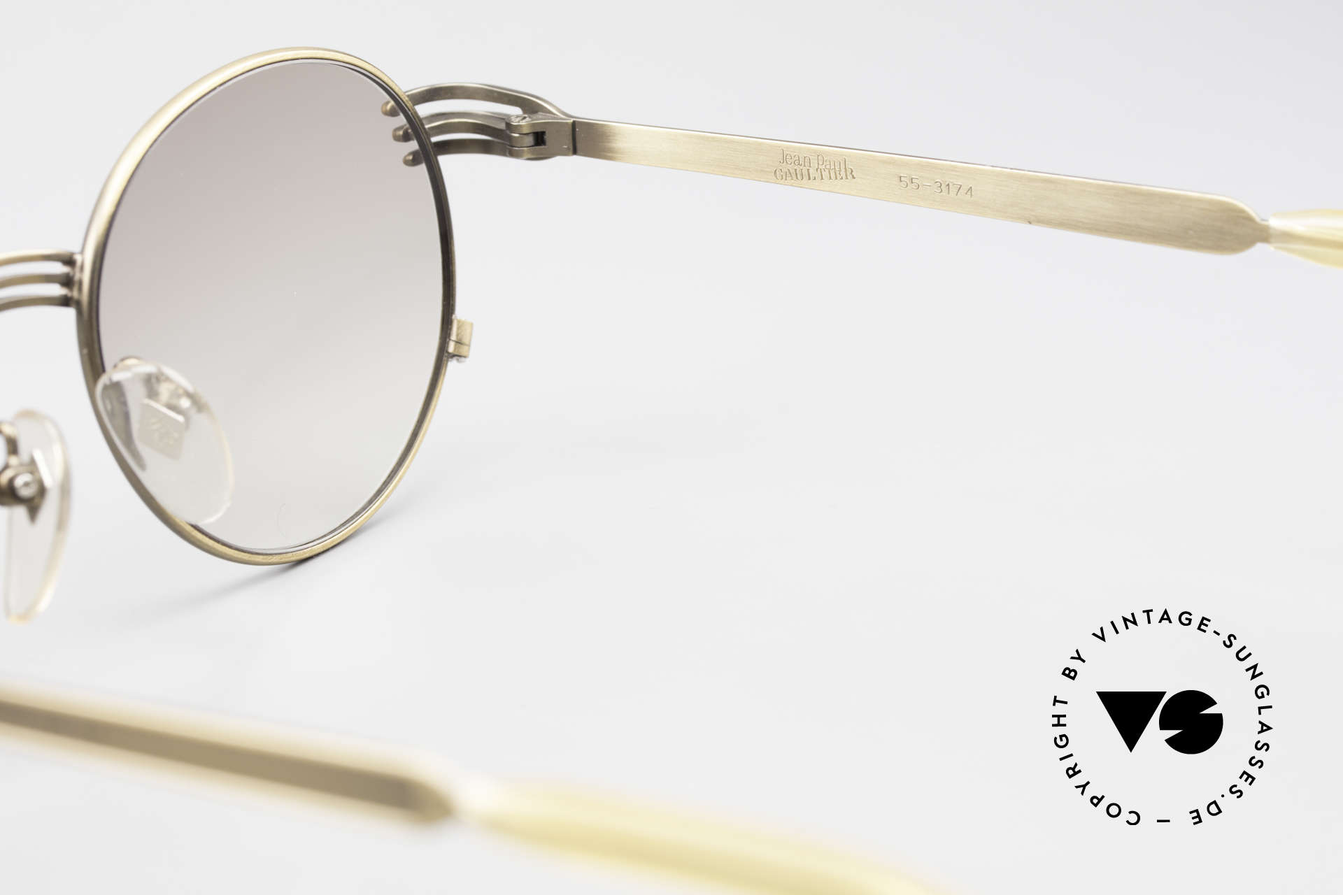 """Jean Paul Gaultier 55-3174 Designer Vintage Glasses 90's, never worn (like all our rare """"old"""" GAULTIER sunglasses), Made for Men and Women"""