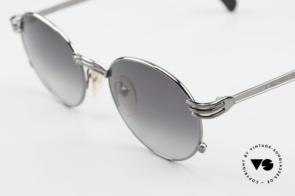 "Jean Paul Gaultier 55-3174 Designer Vintage 90's Glasses, very noble ""gunmetal"" frame finish; frame size 50-19, Made for Men and Women"